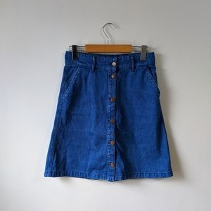H&M Denim Button Down Skirt